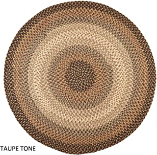 product image for Rhody Rug Ellsworth Indoor/Outdoor Reversible Braided Rug by Taupe/Ivory