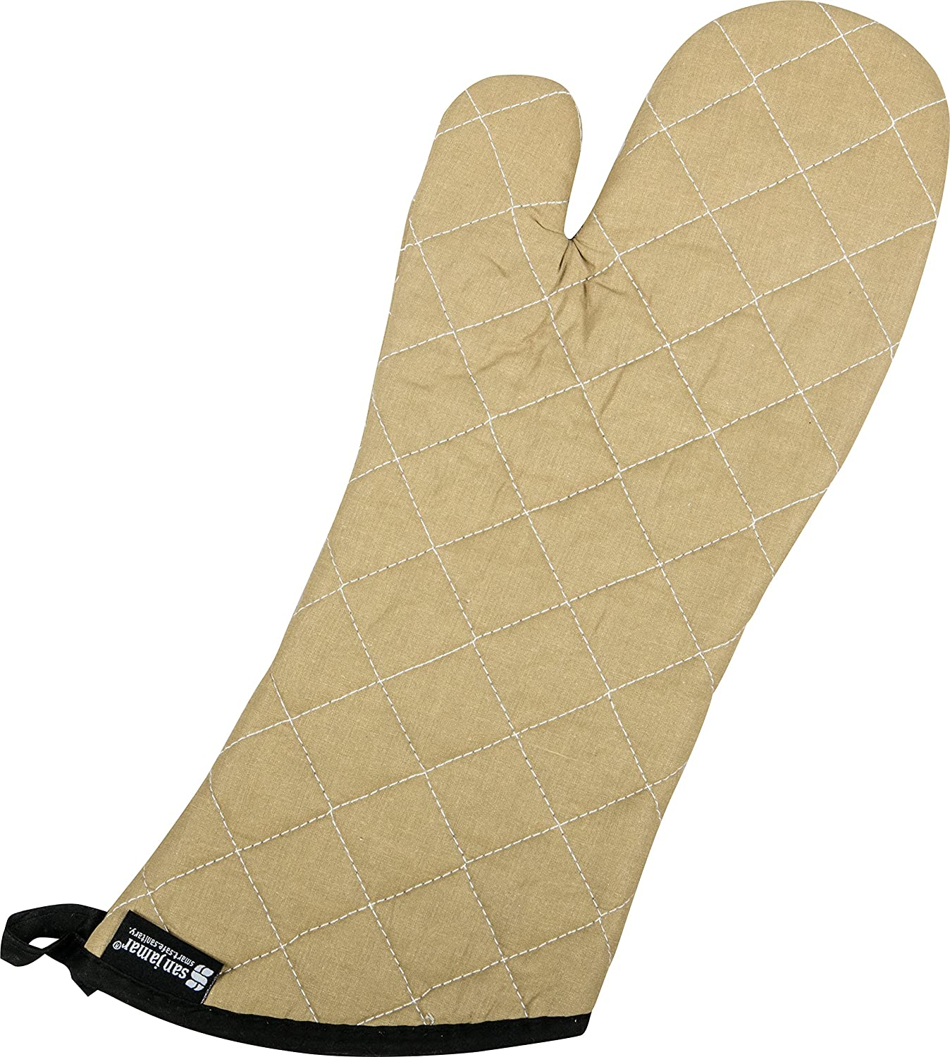 "San Jamar 811TG17 BesTan Temperature Protection Oven Mitt, 17"" Length, Tan"