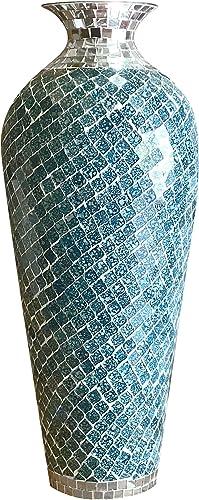 DecorShore Bella Palacio Collection Decorative Mosaic Vase