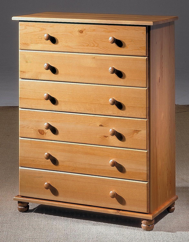 Dogar Altea Comoda De 6 Cajones 100 X 78 X 39 Cm Madera Color  # Muebles Saez Las Tablas