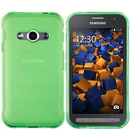 mumbi Schutzhülle Samsung Galaxy Xcover 3 Hülle transparent grün