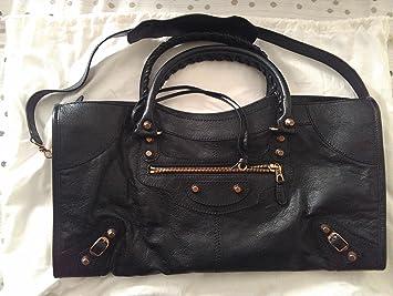 3d2f2eded5e0 Amazon.com   Balenciaga Giant 12 Rose Gold Part Time BLACK BLACK   Diaper  Tote Bags   Baby