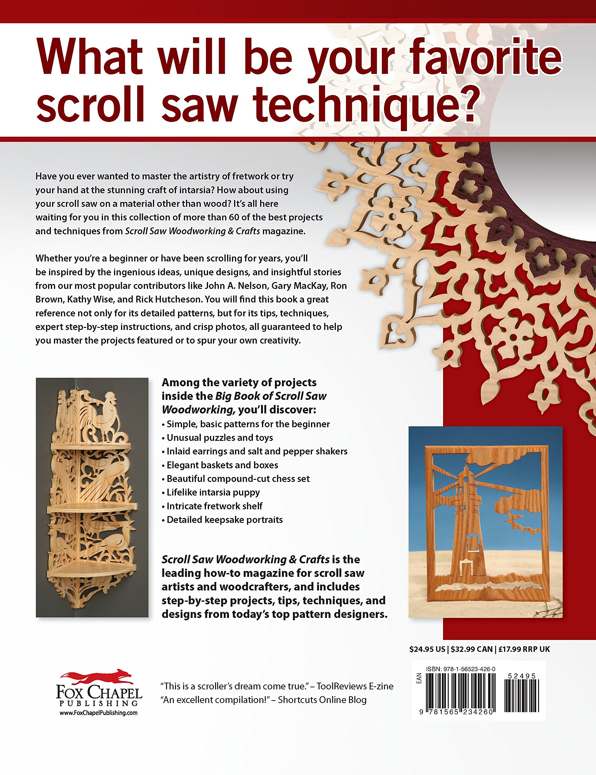 Big Book Of Scroll Saw Woodworking Best Of Ssw C More Than 60