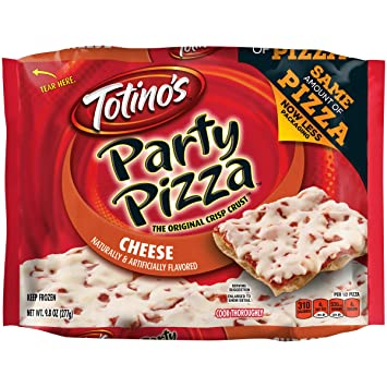 Totinos, Cheese Party Pizza, 9.8 oz (Frozen)