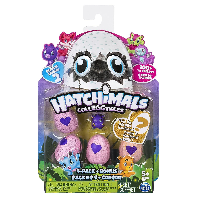 Stagione 2 Collezionabili Confezione da 4 Ovetti 6041338 Bonus colori assortiti Hatchimals