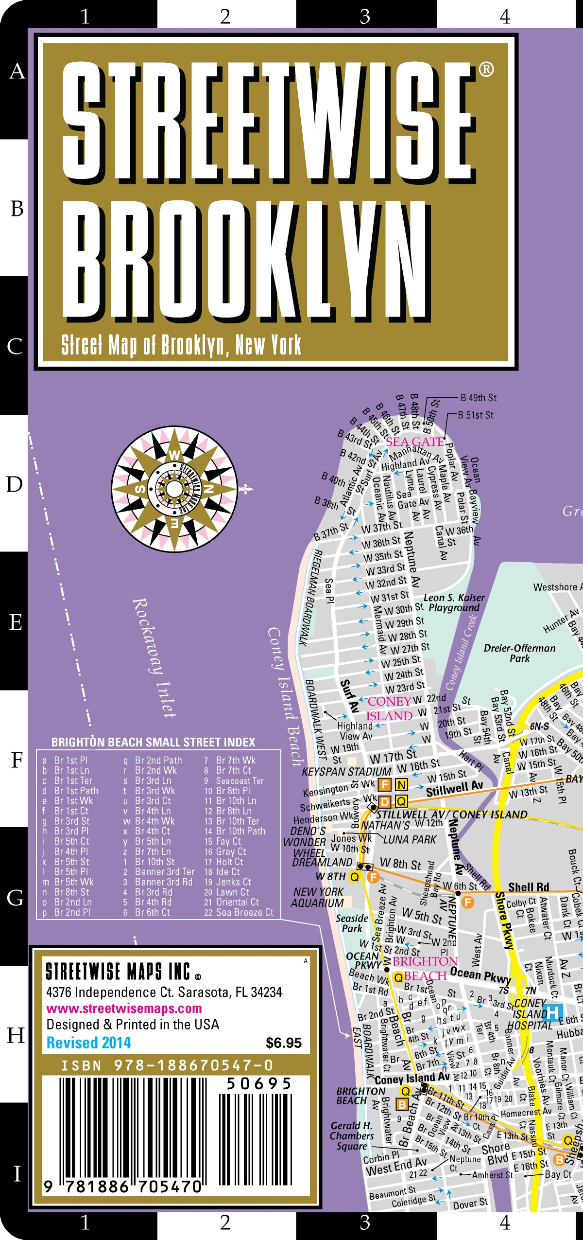 New York City Subway Map With Street Names.Streetwise Brooklyn Map Laminated City Center Street Map Of