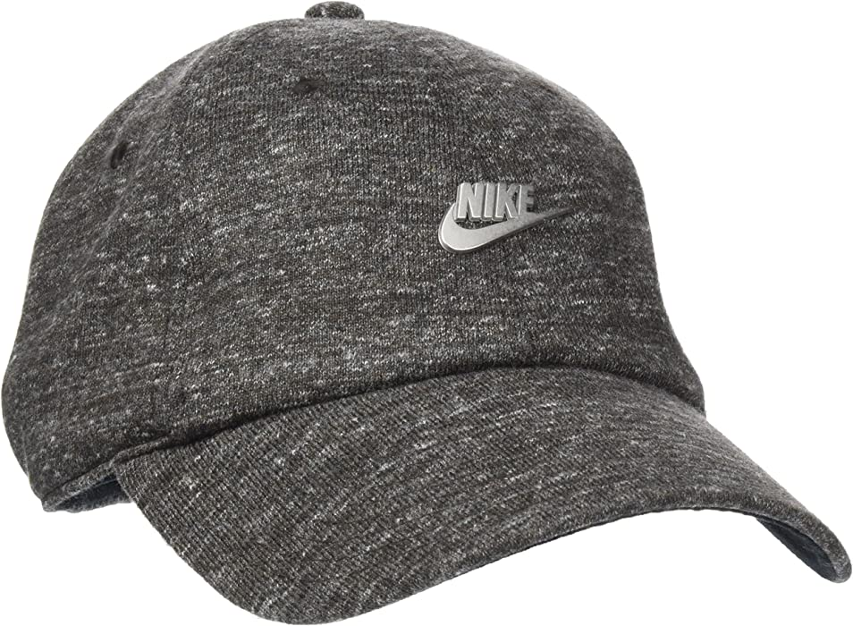 5e438cb81d5e7 Nike Mens H86 Metal Logo Futura Hat Black Heather Matte Silver 891287-032