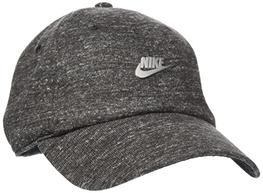 bec4efb32 Nike Unisex Heritage 86 Metal Futura Cap - Black Heather/Black ...