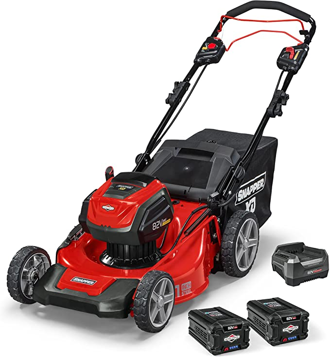 Snapper XD 1687914 82V MAX Cordless Electric 21-Inch Self-Propelled Lawn Mower - ​Best Battery Lawn Mower for Power