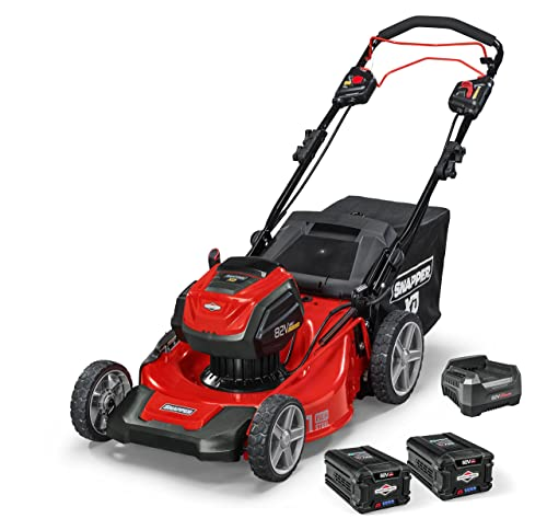Snapper XD 82V MAX Electric Cordless 21-Inch Self-Propelled Lawnmower Kit with 2 2.0 Batteries 1 Rapid Charger, 1687914, SXD21SPWM82K