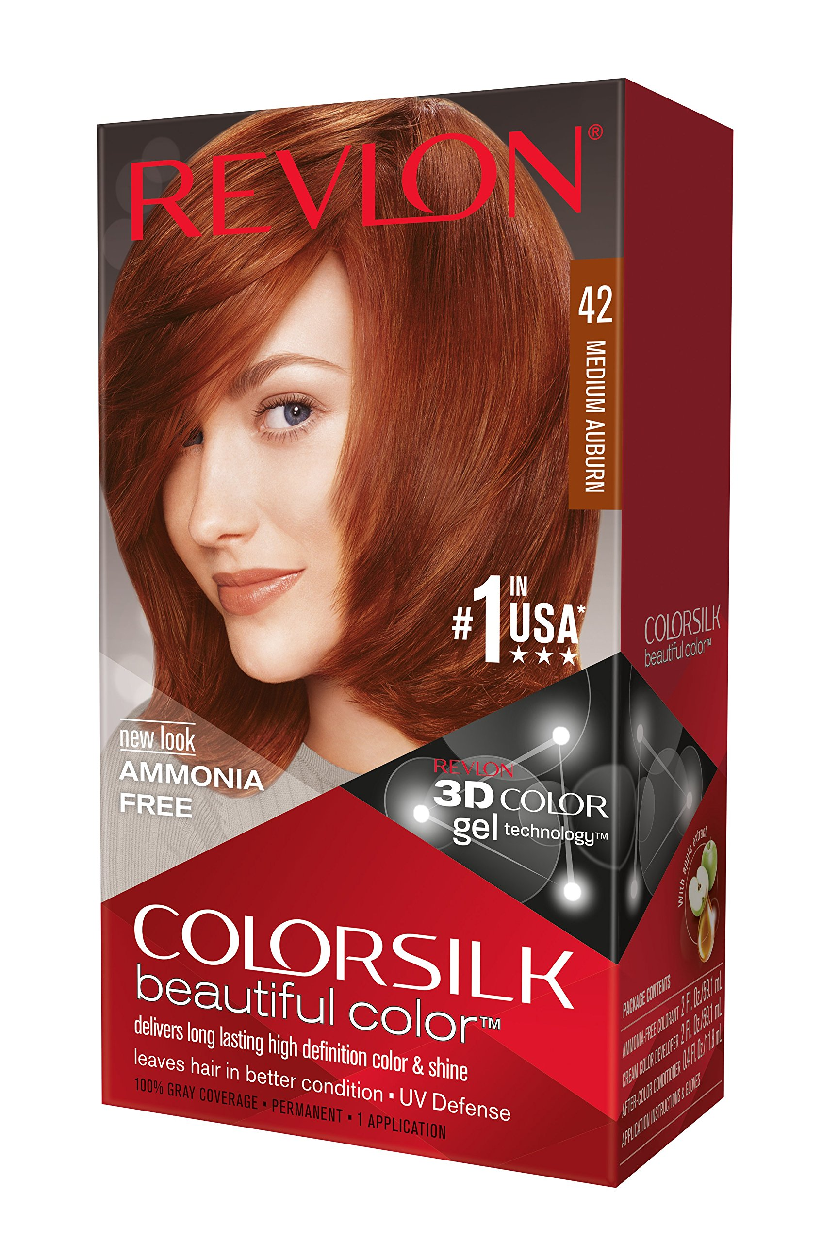 amazoncom revlon colorsilk haircolor light auburn 44