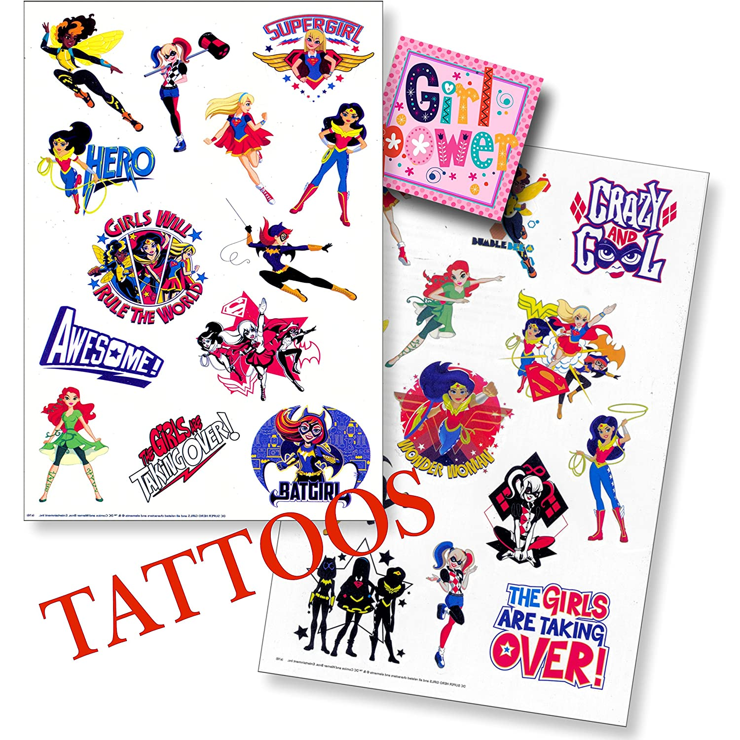Dc Comics Super Hero Girls Fun Set Superhero Girls Stickers