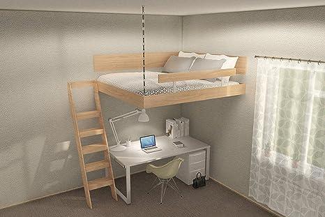 Caster Design Hochbett Fur Erwachsene Doppelbett Hangend