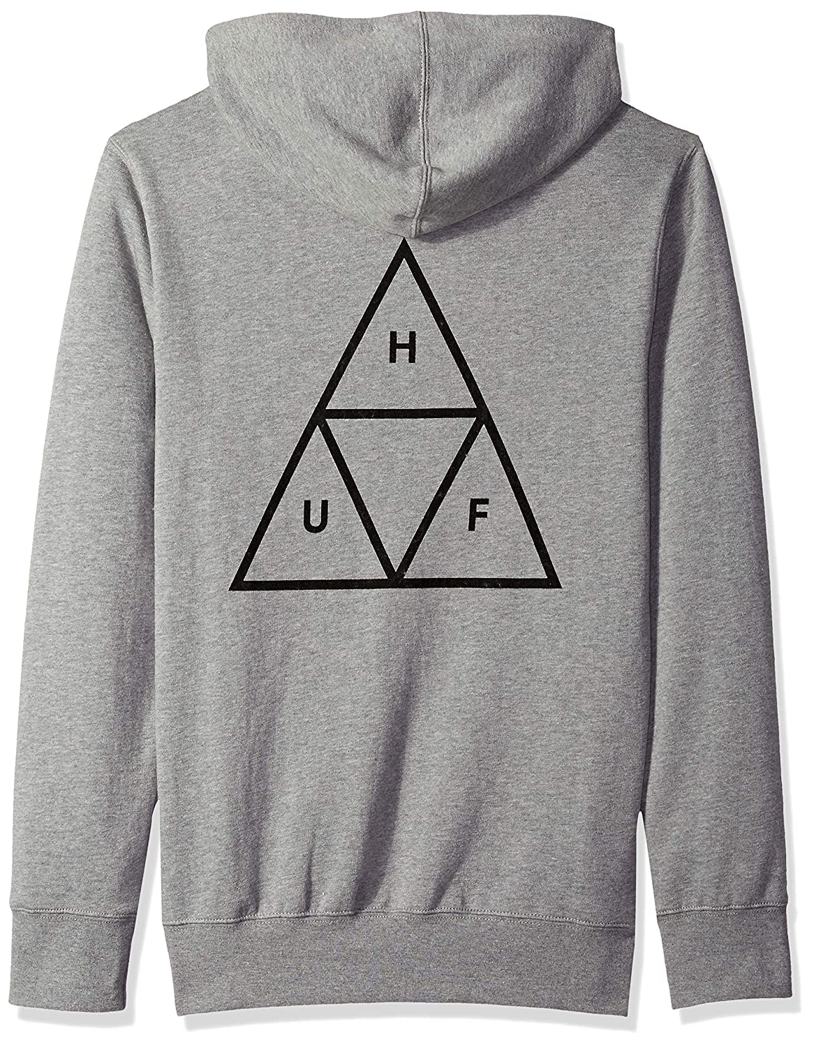 HUF Triple Triangle Sudadera con Capucha Grey Heather: Amazon.es: Ropa y accesorios
