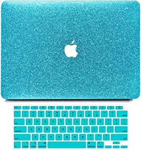 B BELK MacBook Air 13 inch Case 2020 2019 2018 Release A2337 M1 A2179 A1932 with Touch ID, Glitter Sparkly Girly Smooth Hard Shell Cover with Keyboard Cover, MacBook Air 2020 Case with Retina Display