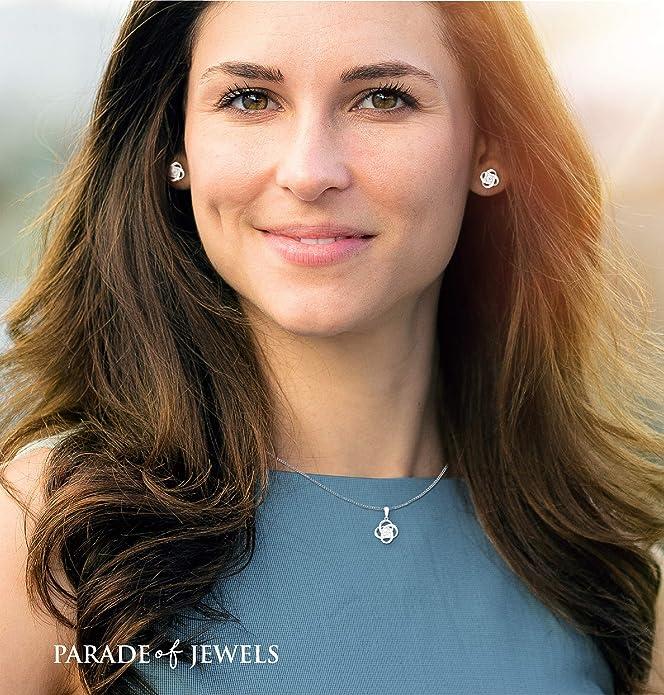 金盒特价 Parade of Jewels 纯银镶钻 耳环项链套装 礼盒装 6.5折$97.99 海淘转运到手约¥666