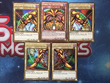 Konami YuGiOh Exodia The Forbidden One Full Card Set Premium Gold Return of The Bling Edition