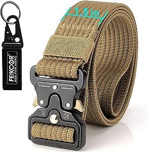 FEIKCOR Cinturón Táctico Cinturón Resistente para Hombres Cinturón ...