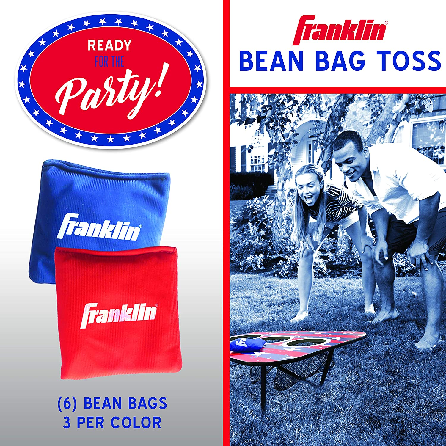 Phenomenal Franklin Sports Bean Bag Toss Yard Game 3 Hole Cornhole Board Set Red White And Blue With 6 Bean Bags Machost Co Dining Chair Design Ideas Machostcouk