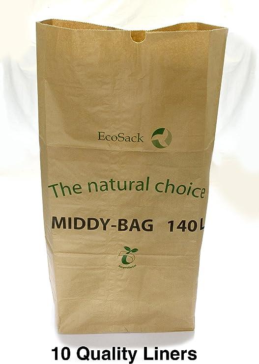 Ecosack - Bolsa de basura biodegradable (10 unidades, de papel ...