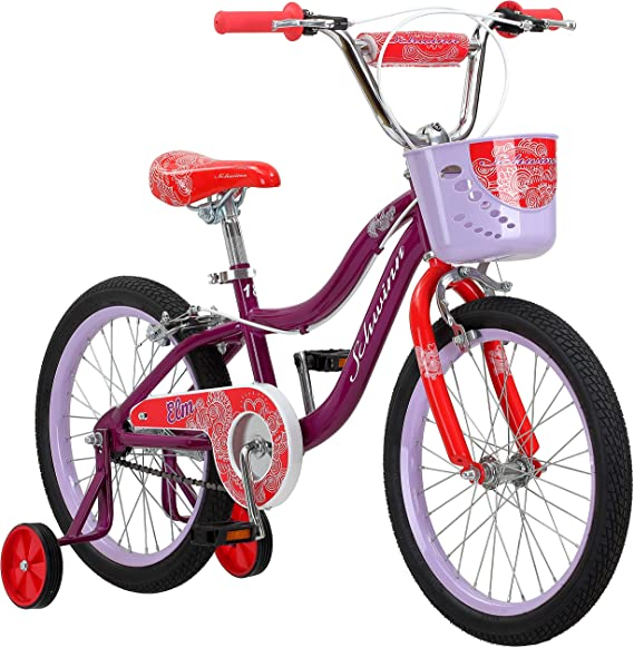 Schwinn Elm 18-Inch Girls Bike with Training Wheels