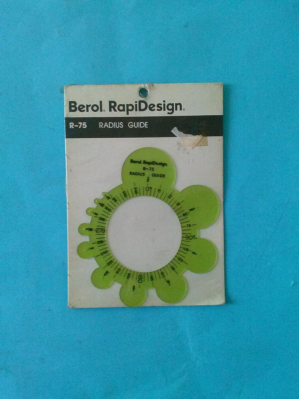 Berol Rapidesign Template R-80 Gears