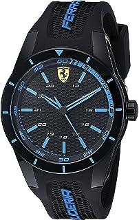 687b0a860d7 Ferrari Men s 0830247 REDREV Analog Display Japanese Quartz Black Watch