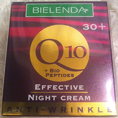 Bielenda Q10 Effective Night Cream, Anti-Wrinkle 30 , 1.7 Oz.