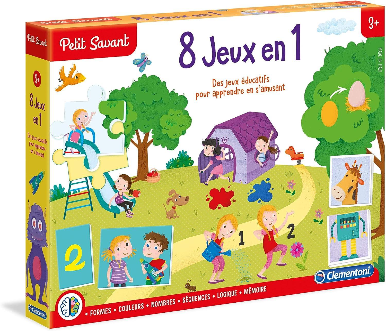 Clementoni 62543 7 Jeu Educatif 8 Jeux En 1 3 A 6 Ans Amazon Fr Jeux Et Jouets