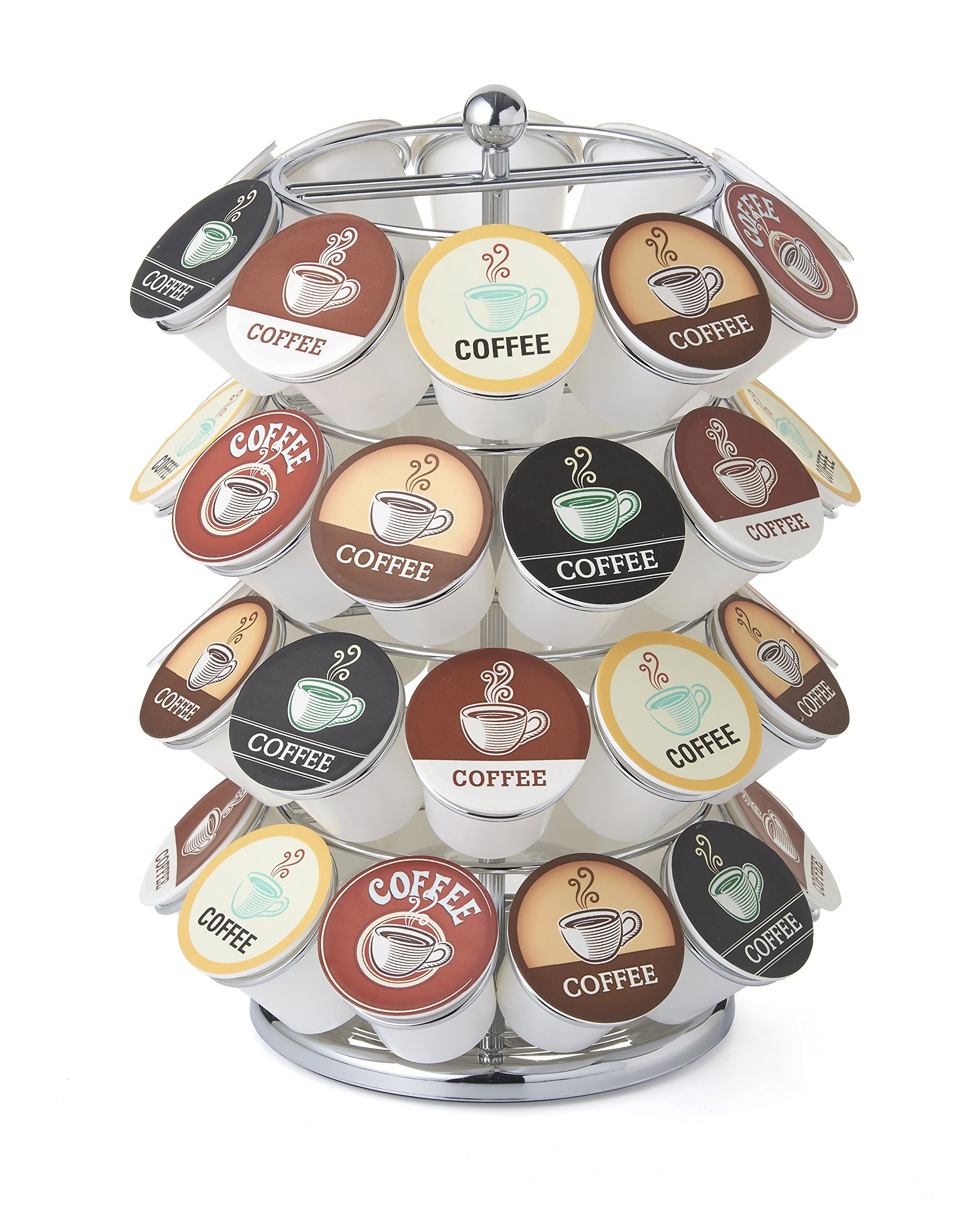 NIFTY 5640C 40 Capacity K K-Cup Carousel, 1 Size, Chrome by NIFTY