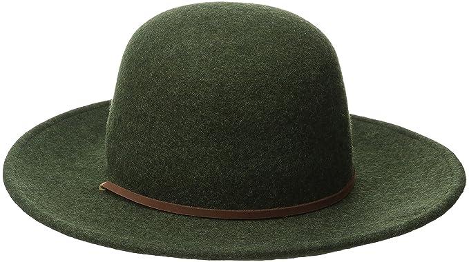 beaf67418dbba ... discount brixton mens tiller wide brim felt fedora hat heather green  medium 269cc 1cbe3
