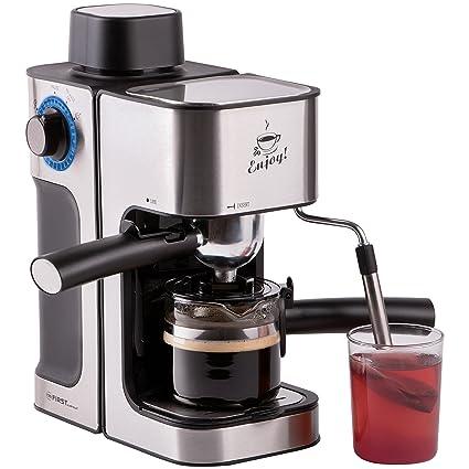 portafiltros de máquina eléctrica, Café expreso de café eléctrica con jarra de cristal, leche