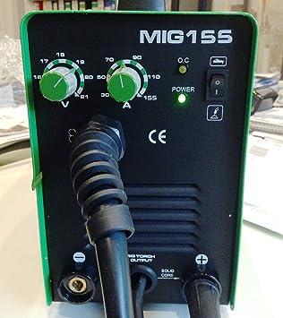HST de soldadura MIG MAG MMA 155 Amp el dispositivo de soldadura + electrodos de soldadura: Amazon.es: Bricolaje y herramientas