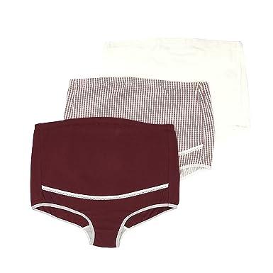 636c638fb55de Feelingwear Women Maternity Undies High Waist Non-Trace Breathable Pregnant  Panties Support Underpants Knickers Set