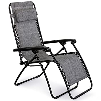 VonHaus Textoline Zero Gravity Chair - Folding u0026 Reclining Sun Lounger with Steel Frame for Patio  sc 1 st  Amazon UK & VonHaus Textoline Zero Gravity Chair - Folding u0026 Reclining Sun ... islam-shia.org