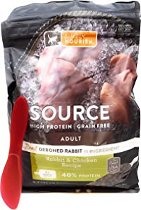 SIMPLY NOURISH Source Adult Dry Cat Food, Rabbit and Chicken, 5 Pounds and Especiales Cosas Spatula