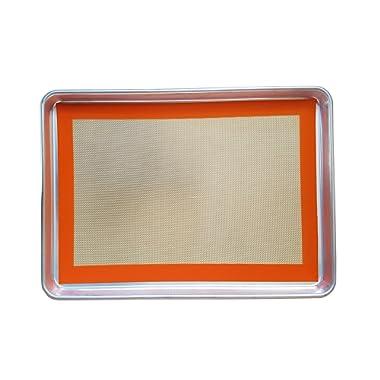 Keliwa Commercial 18-Gauge Aluminum Half Sheet Pan & Silicone Baking Mat Set