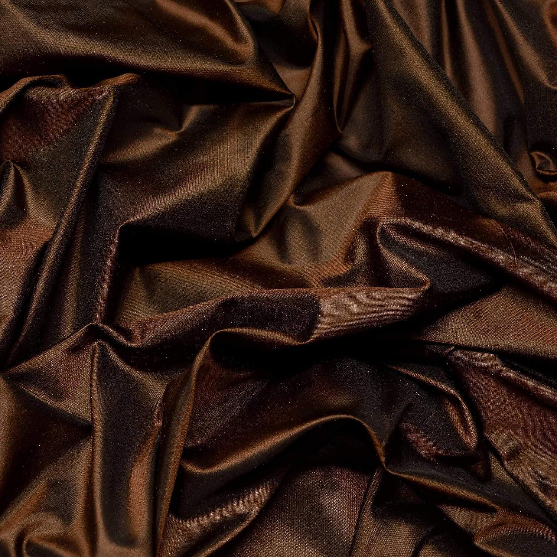 Choccolate T079 Section Brown 1 yard 100/% Silk taffeta Silk Taffeta Fabric