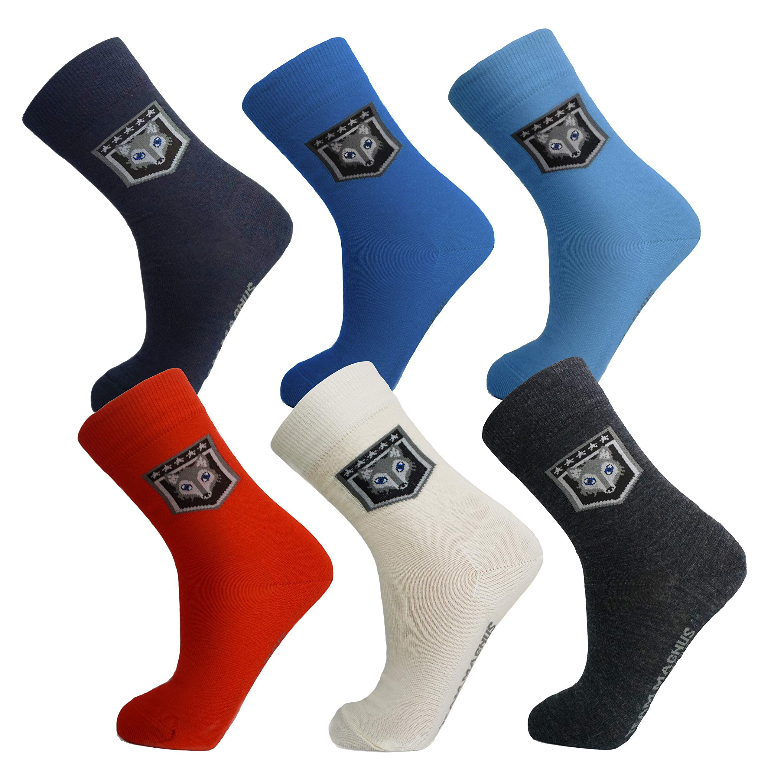 Tundra wolf 3-pack exclusive wool socks -extremely thin & warm socks 80% wool (grey, kids 1-4)