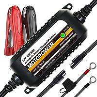 MOTOPOWER MP00205C 12V 800mA Cargador/mantenedor de baterías Completamente automático - Cargue, Mantenga y optimice Las baterías [Junior Plus]