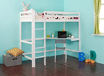 Westwood Childrens High Sleeper Cabin Wooden Frame Bunk Bed With