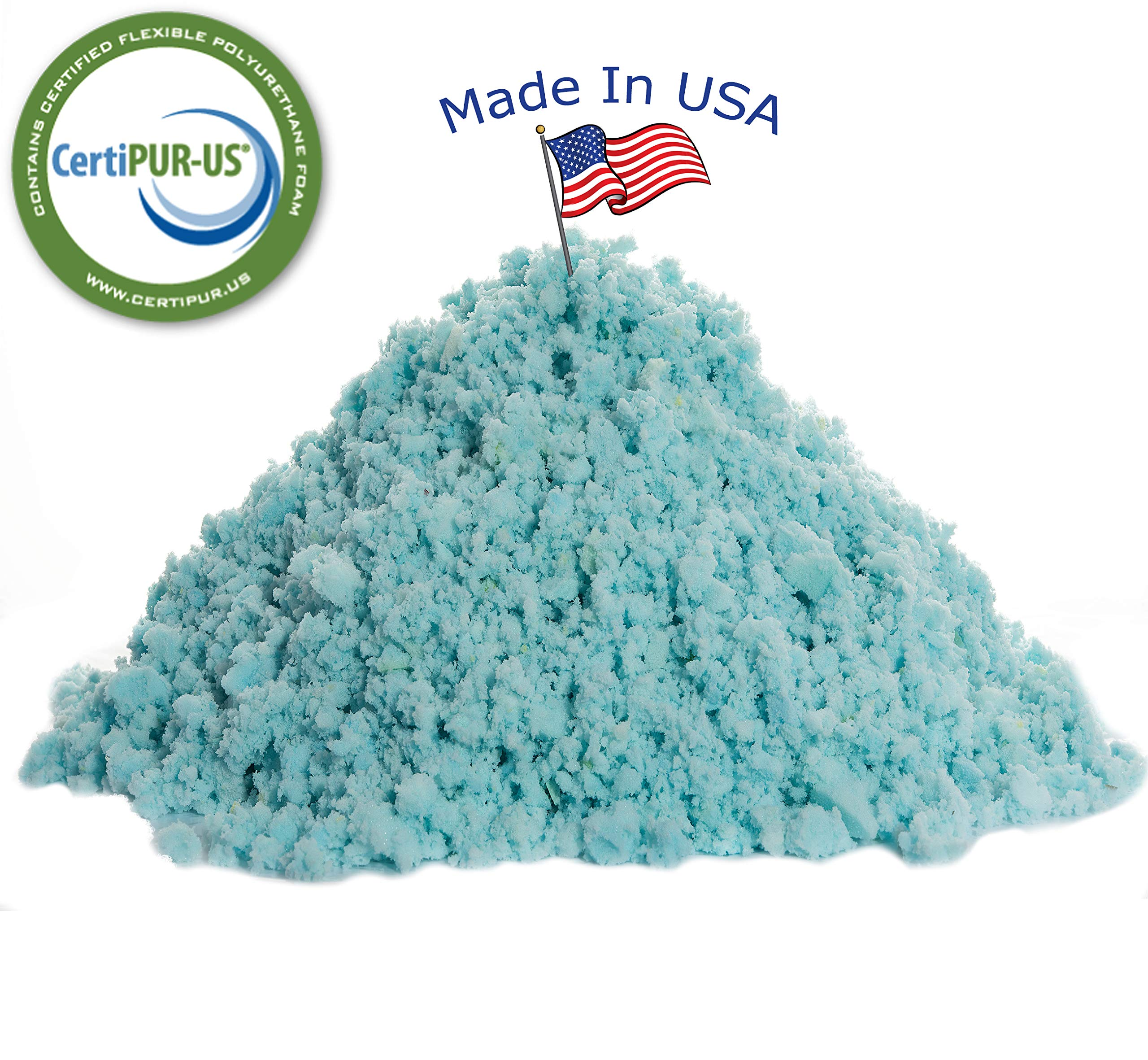 LuxyFluff Shredded Memory Foam with Cooling Gel Fill - CertiPUR-US Certified - Made in USA - 5lbs by LuxyFluff