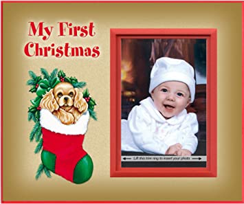 Amazoncom My First Christmas Puppy Picture Frame Gift Baby