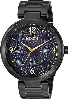 Nixon Womens Chameleon Quartz Stainless Steel Watch, Color:Black (Model: