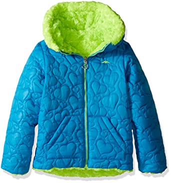 54f8365aad3e Amazon.com  Pacific Trail Girls  Little Quilted Reversible Jacket to ...