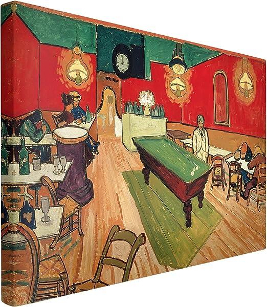 Bilderwelten Cuadro en Lienzo - Vincent Van Gogh - The Night Café - Apaisado 2:3, Cuadros Cuadro Lienzo Cuadro sobre Lienzo Cuadro Moderno Cuadro Decoracion, Tamaño: 40 x 60cm: Amazon.es: Hogar