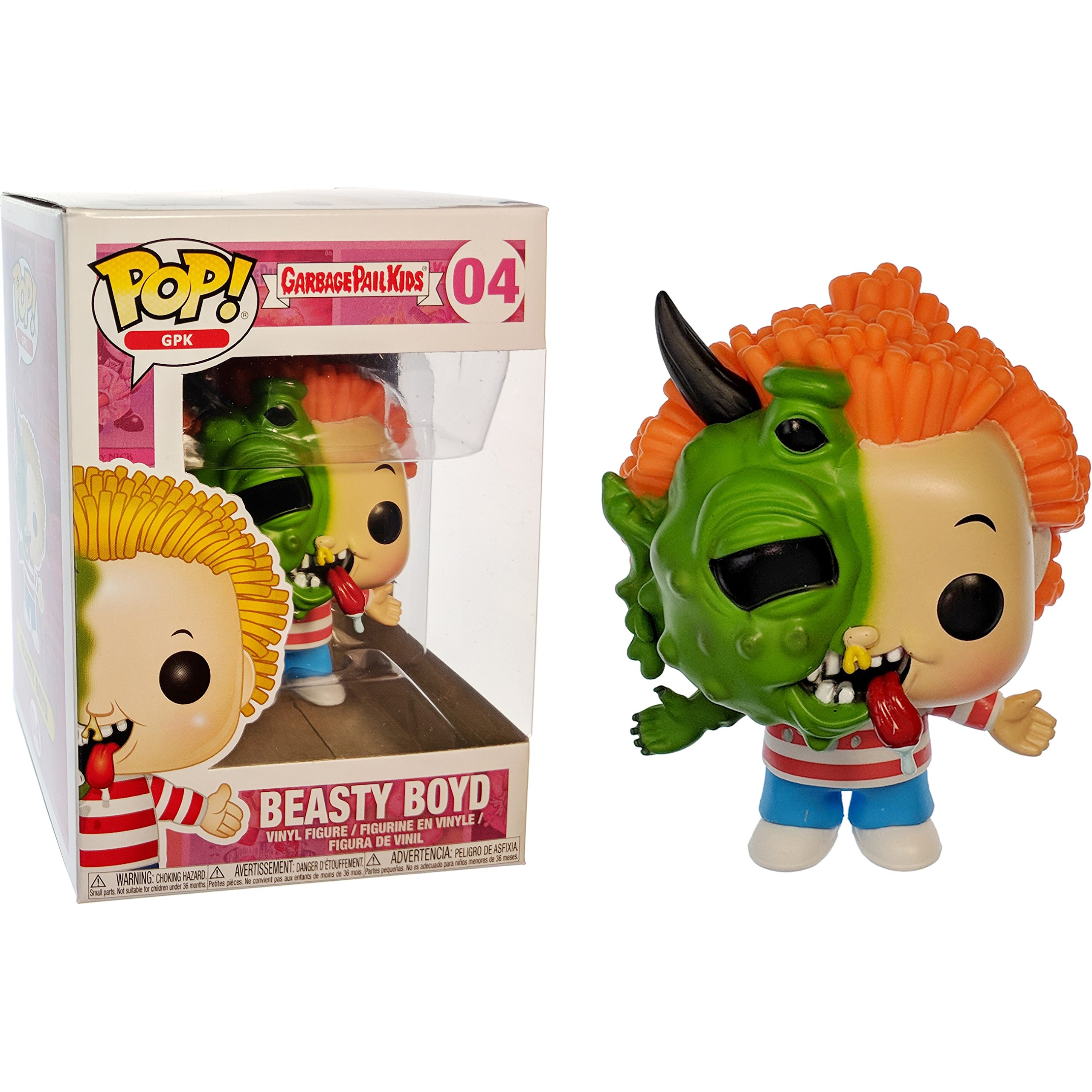 Funko Beastly Boyd POP! GPK x Garbage Pail Kids Vinyl Figure + 1 Video Games Themed Trading Card Bundle [#004 / 26001]