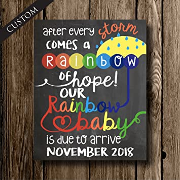amazon com rainbow baby sign pregnancy announcement after