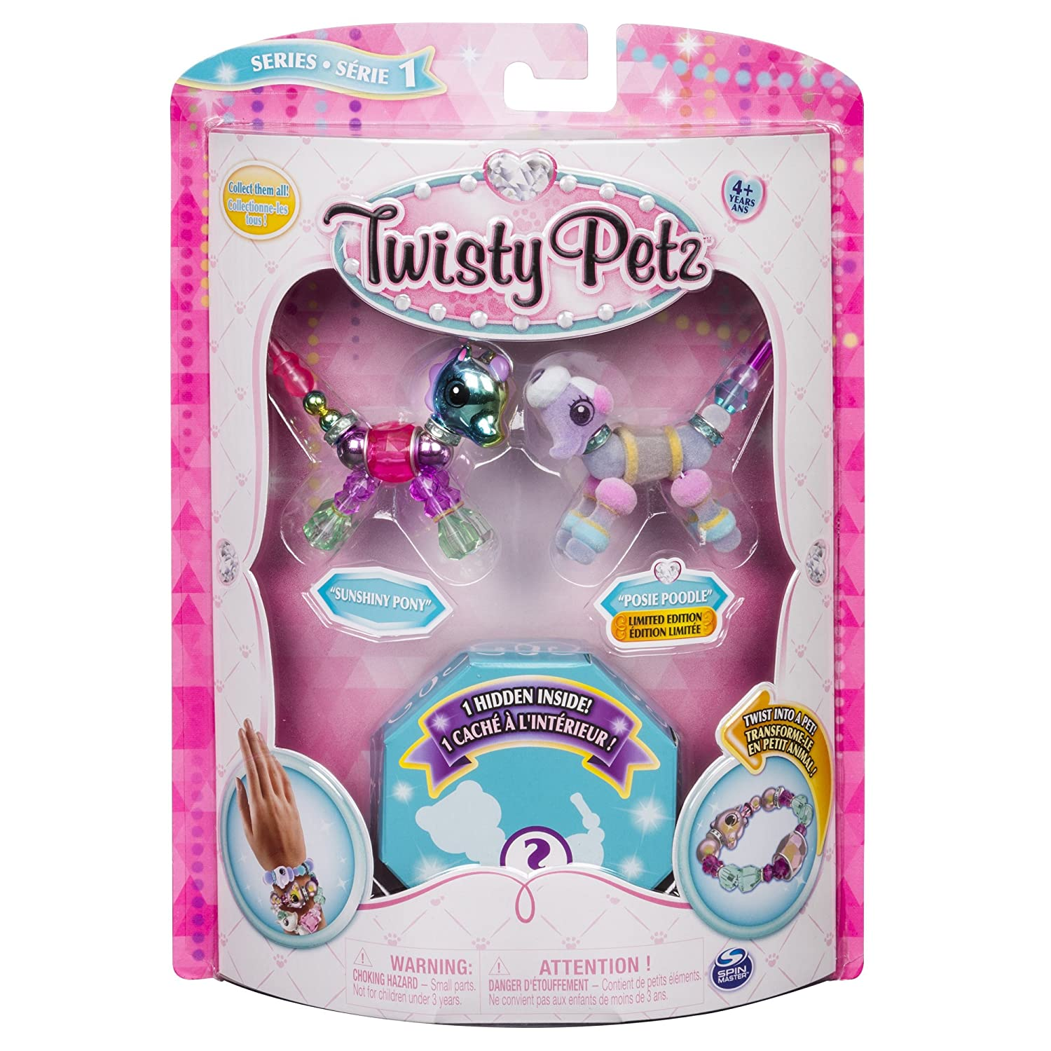 Twisty Petz - 3-Pack - Butterscotch Unicorn, Berry Tales Cheetah and Surprise Collectible Bracelet Set for Kids Spin Master 20100958