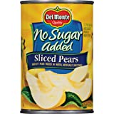 Del Monte Canned Bartlett Sliced Pears in Water, Artificially Sweetened, No Sugar Added, 14.5-Ounce